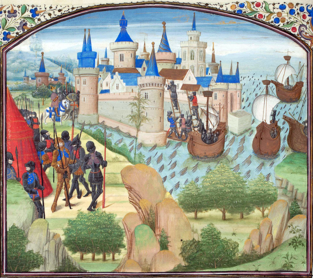Detail of The capture of Constantinople by land and sea in 1204. Miniature from the Historia by William of Tyre by Anonymous