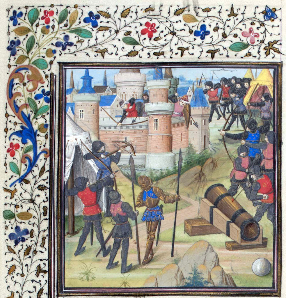 Detail of The Siege of Antioch. Miniature from the Historia by William of Tyre by Anonymous