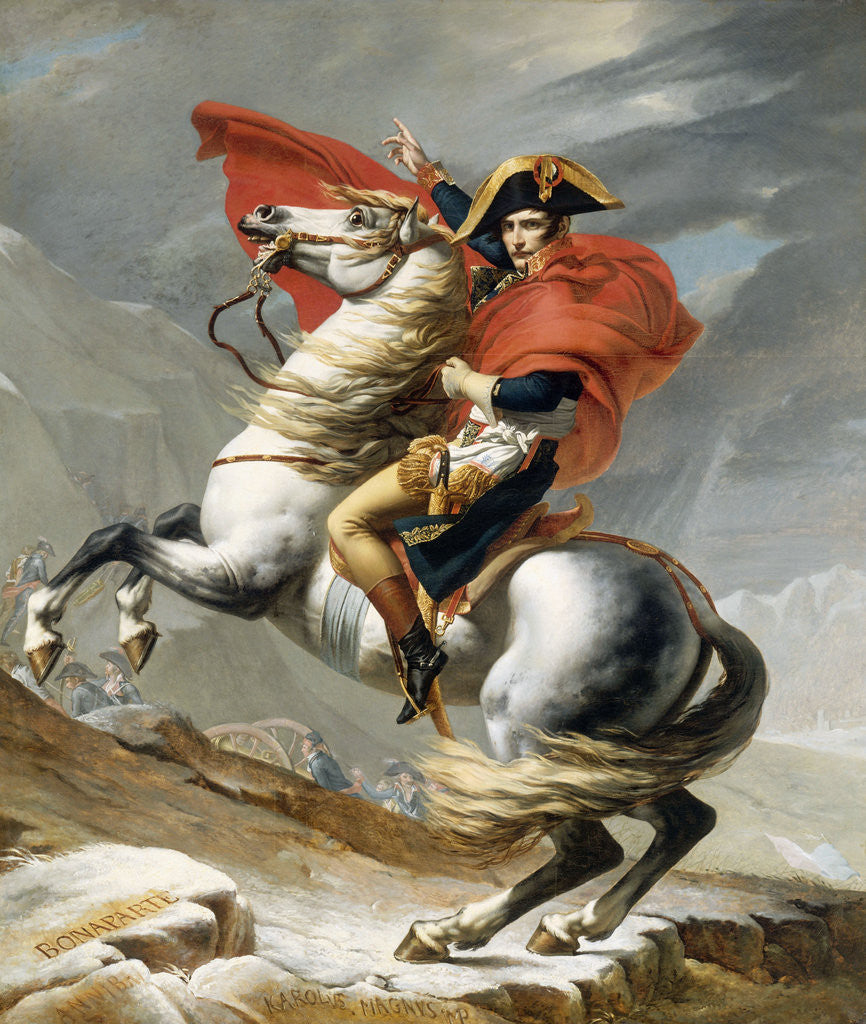 Detail of Bonaparte Crossing the Grand Saint-Bernard Pass, 20 May 1800 by Jacques Louis David