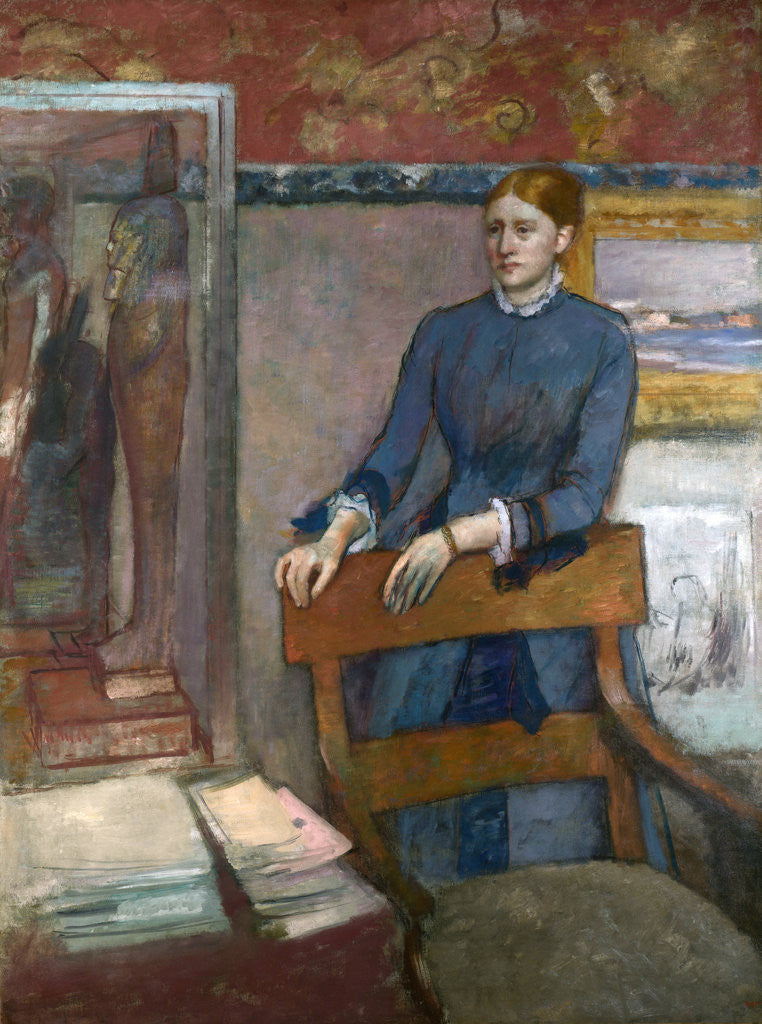Detail of Hélène Rouart in her Father's Study by Edgar Degas