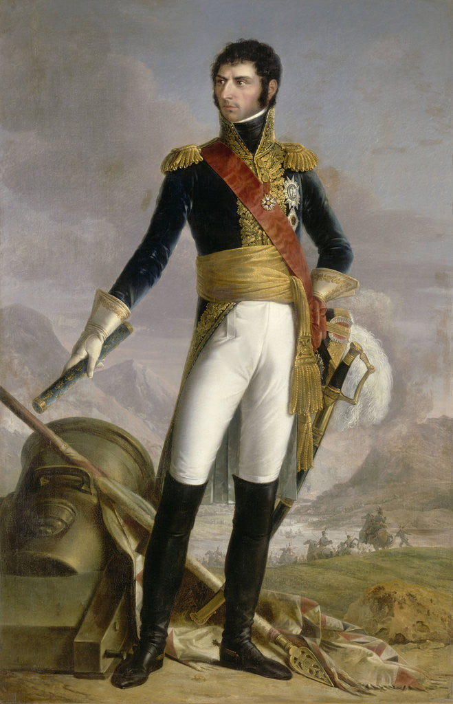Detail of Portrait of Jean Baptiste Jules Bernadotte (1763-1844), Marshal of France, King of Sweden and Norway by Joseph Nicolas Jouy