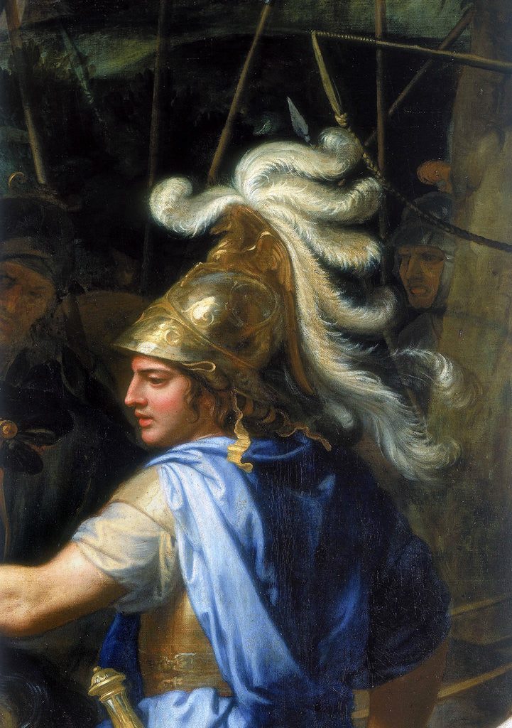 Detail of Alexander the Great (Alexander and Porus, Detail) by Charles Le Brun