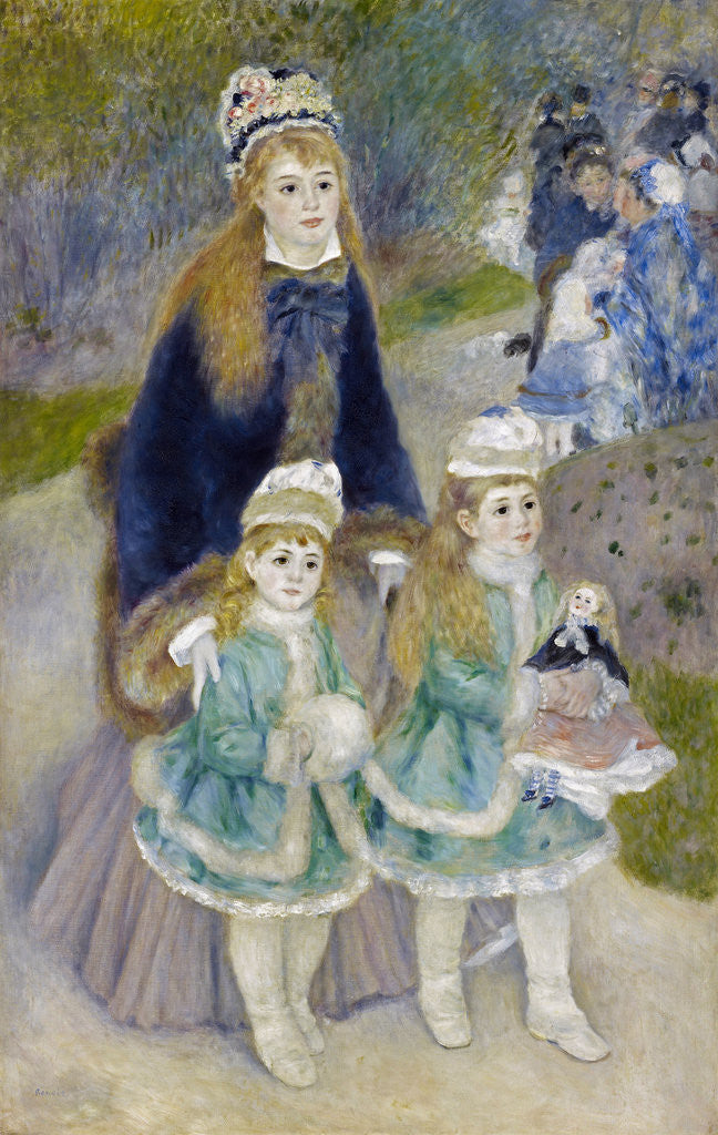 Detail of Mother and Children (La Promenade) by Pierre-Auguste Renoir