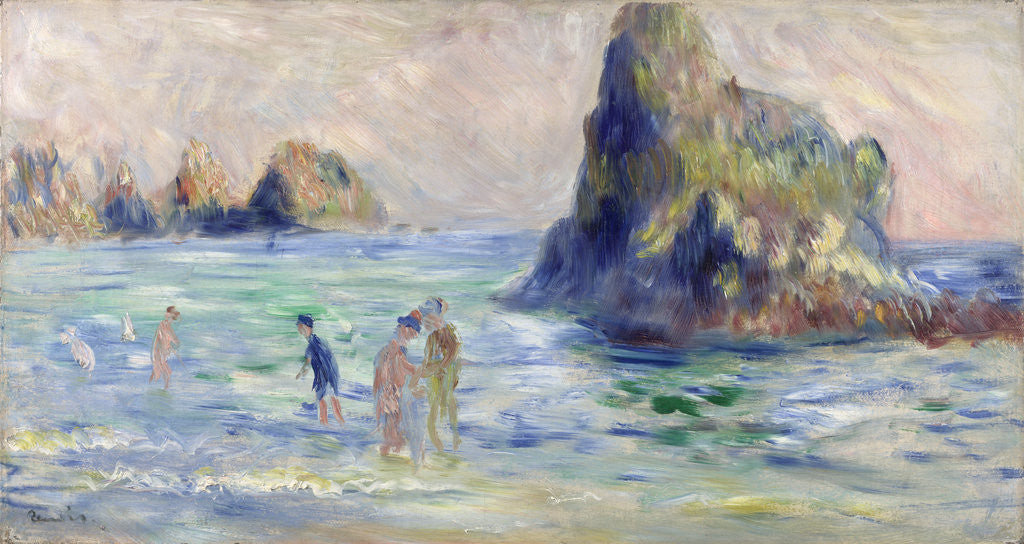 Detail of Moulin Huet Bay, Guernsey by Pierre-Auguste Renoir
