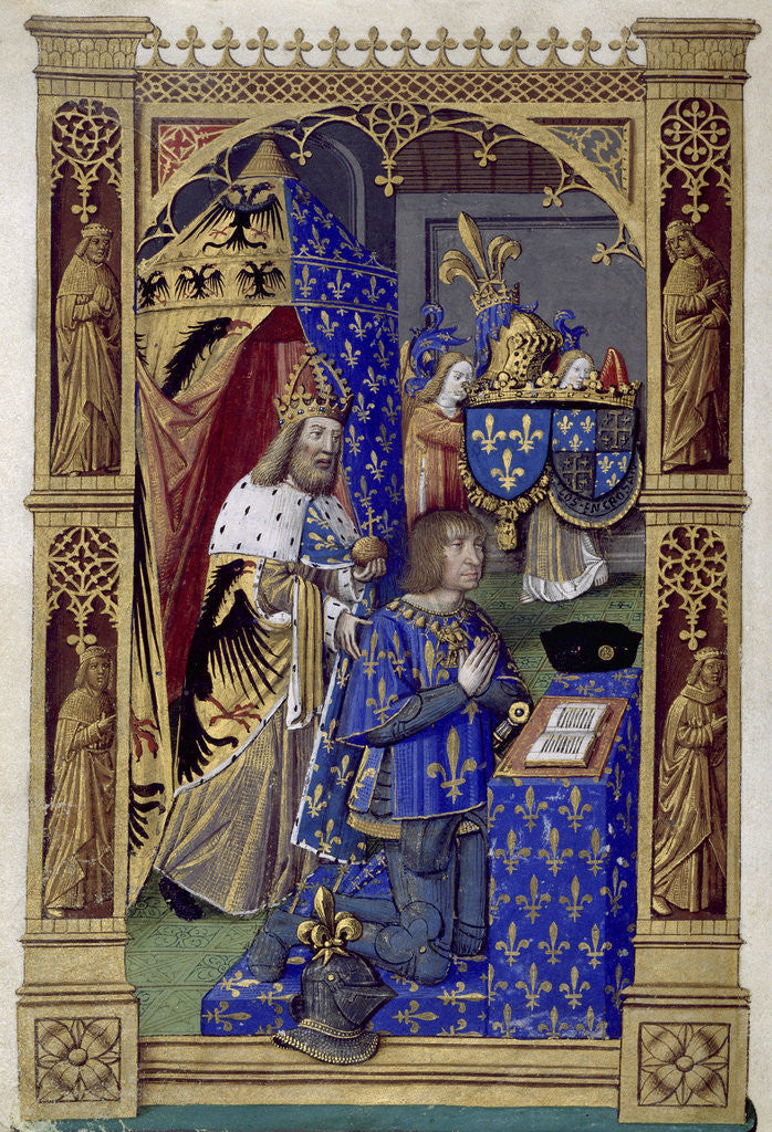 Detail of Louis XII of France (Book of Hours of Charles VIII, King of France), Between 1494 and 1496 by Antoine Verard