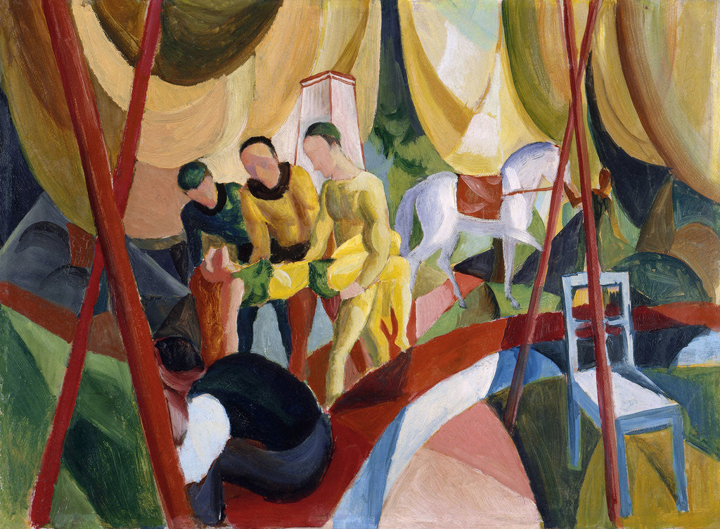 Detail of Circus by August Macke