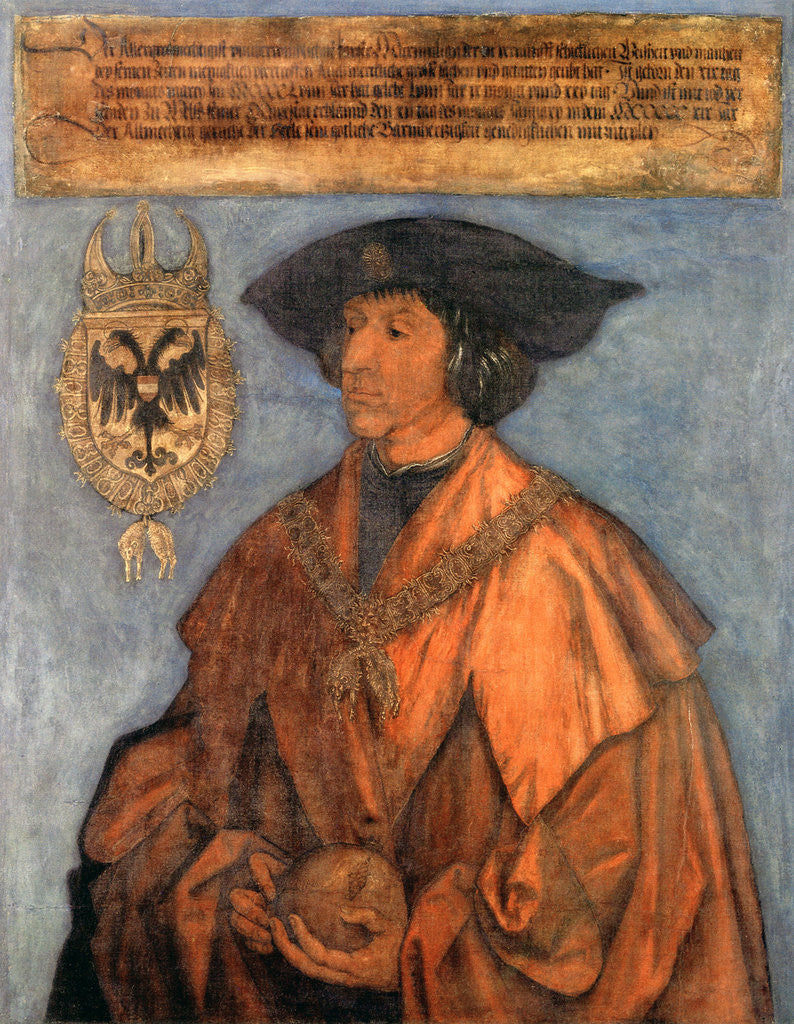 Detail of Portrait of Emperor Maximilian I (1459-1519) by Albrecht Dürer