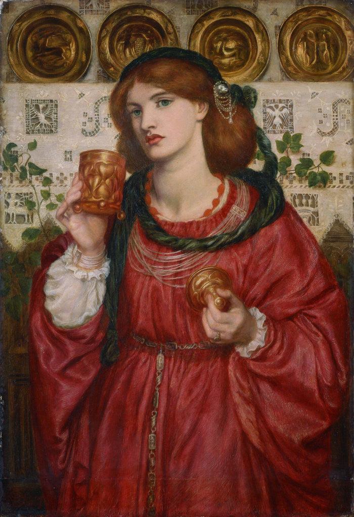Detail of The Loving Cup by Dante Gabriel Rossetti