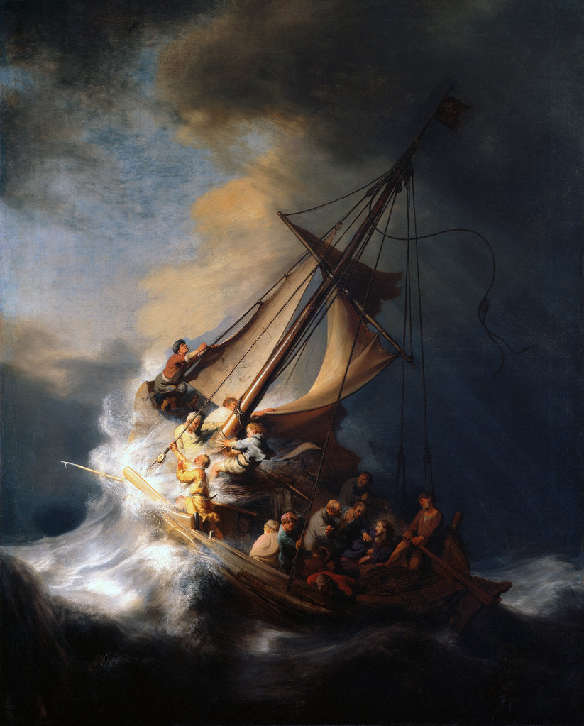 Detail of Christ in the Storm on the Lake of Galilee, 1633 by Rembrandt van Rhijn