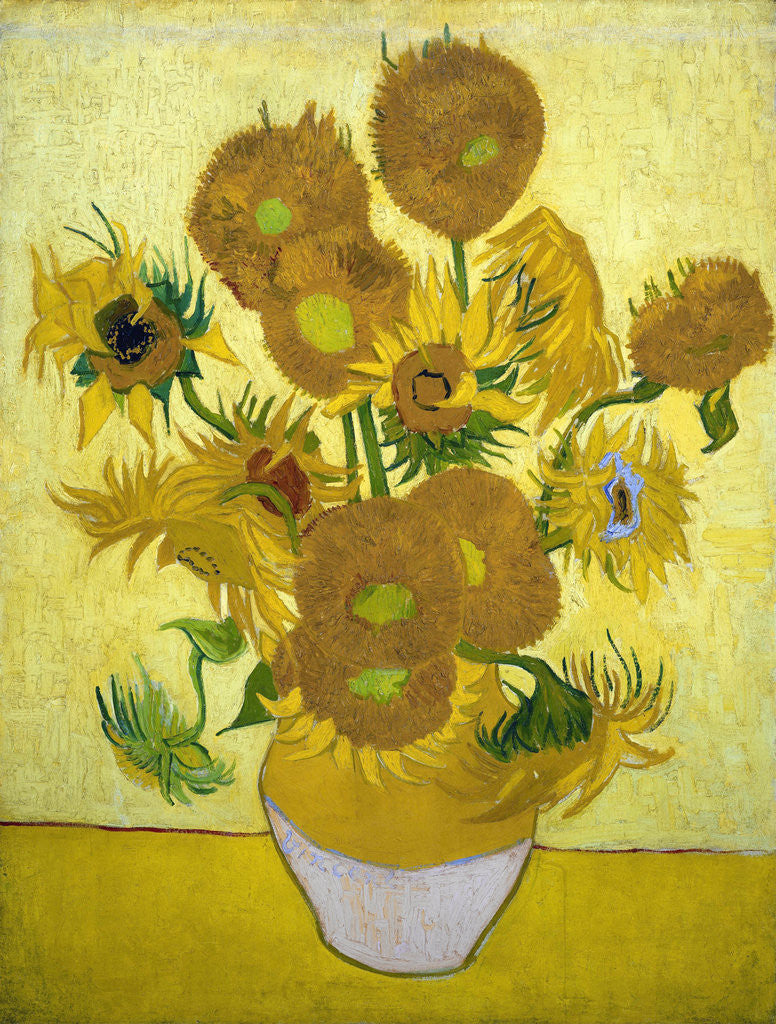 Detail of The Sunflowers by Vincent Van Gogh