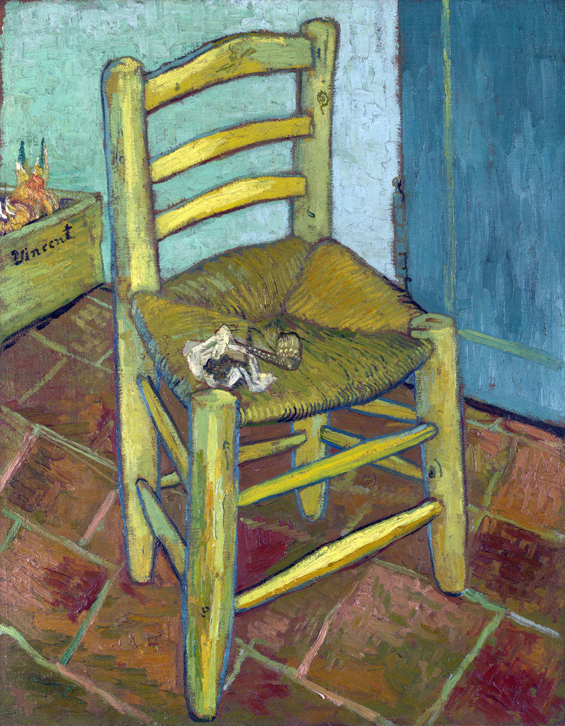 Detail of Van Gogh's Chair by Vincent Van Gogh