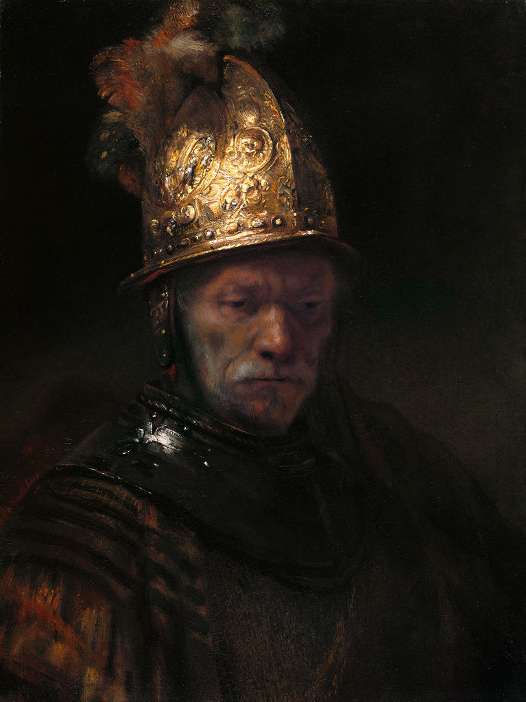 Detail of The Man with the Golden Helmet by Rembrandt (Rembrandt van Rijn)