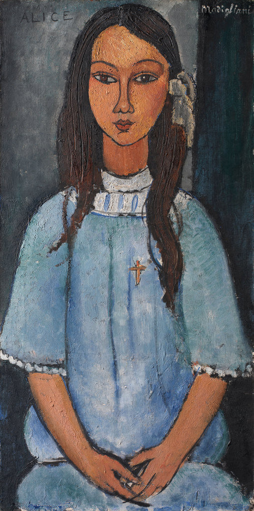 Detail of Alice by Amedeo Modigliani