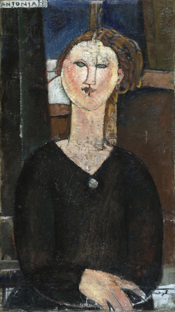 Detail of Antonia by Amedeo Modigliani