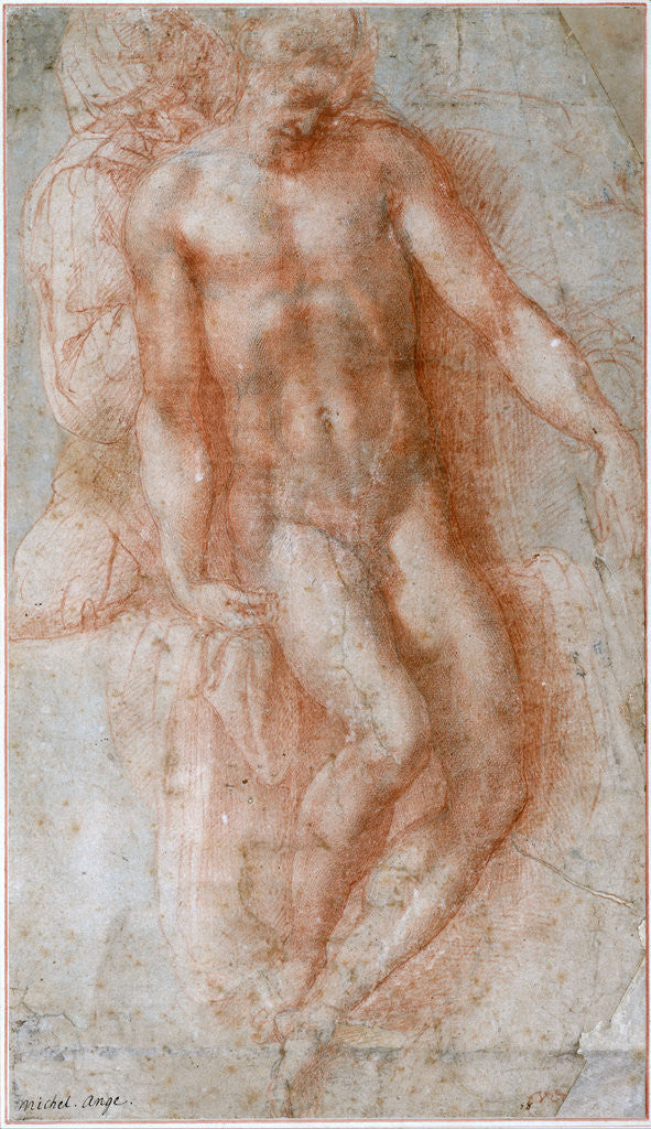 Detail of Pietà by Michelangelo Buonarroti
