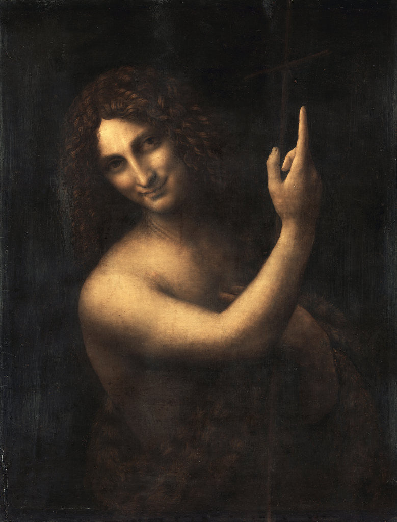 Detail of Saint John the Baptist by Leonardo Da Vinci
