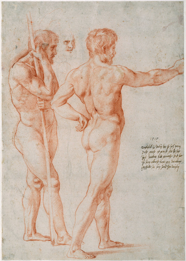 Detail of Two Nude Studies by Raphael