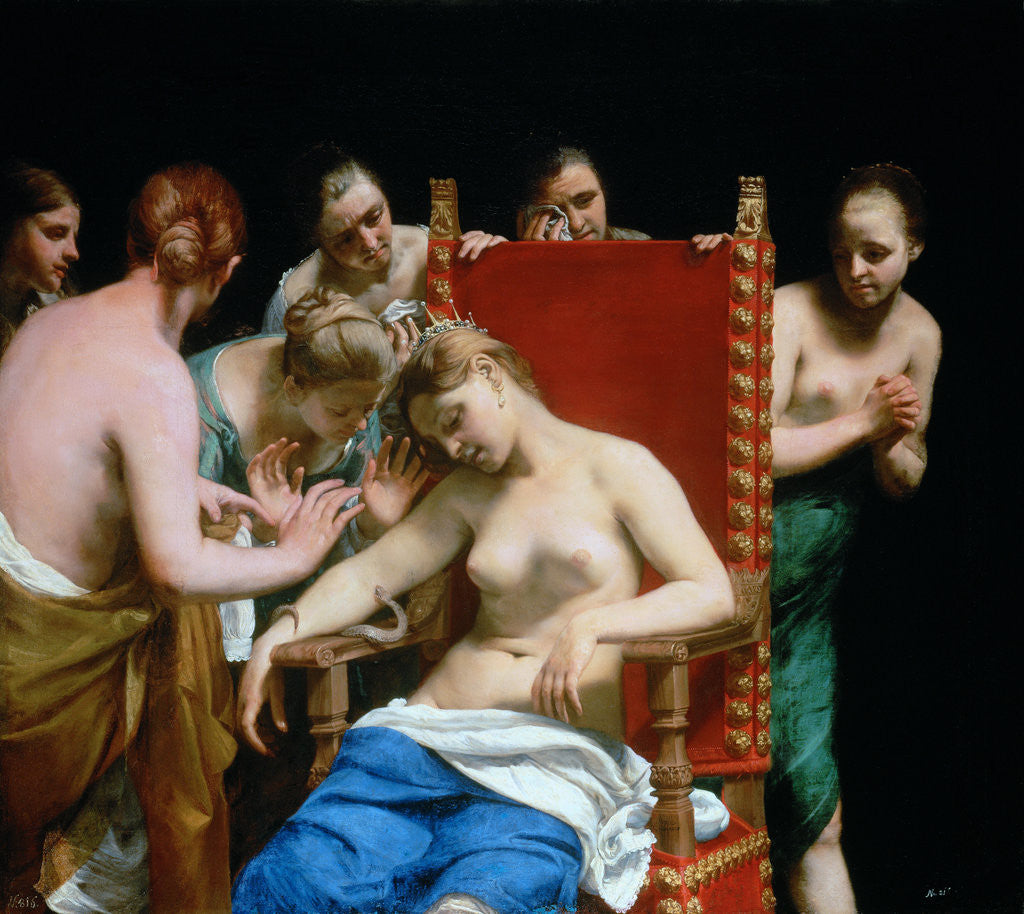 Detail of The Death of Cleopatra by Guido Canlassi