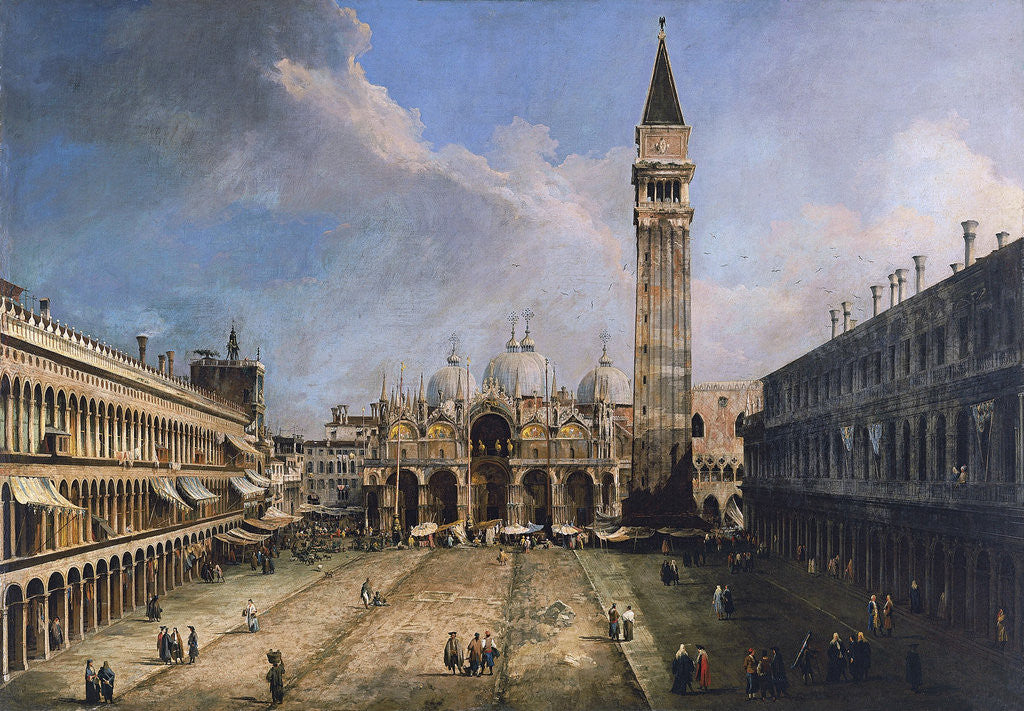 Detail of The Piazza San Marco in Venice by Giovanni Antonio Canaletto