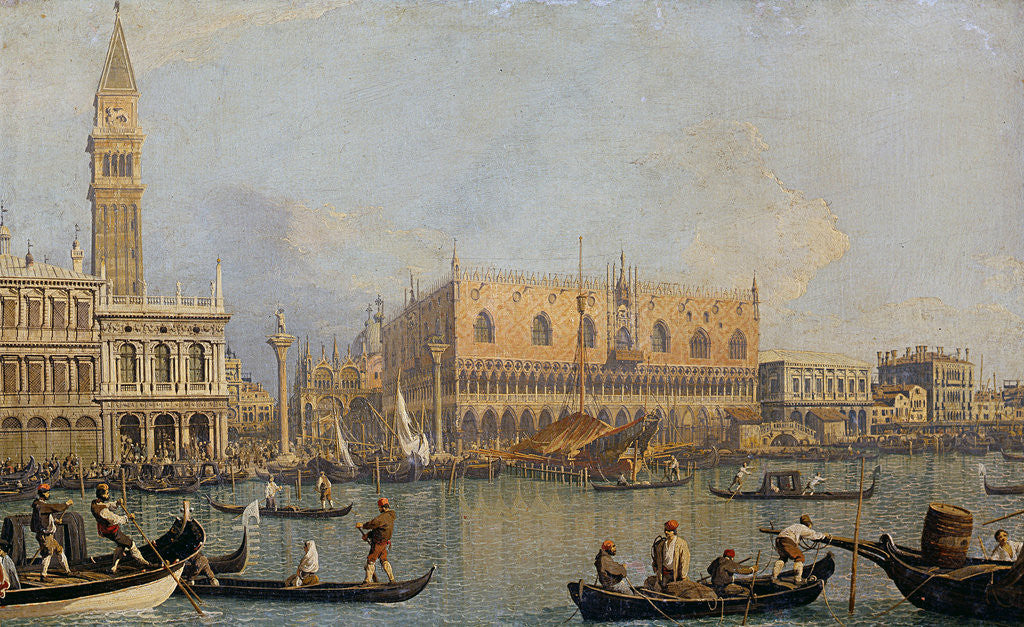 Detail of View of the Doge's Palace in Venice by Giovanni Antonio Canaletto