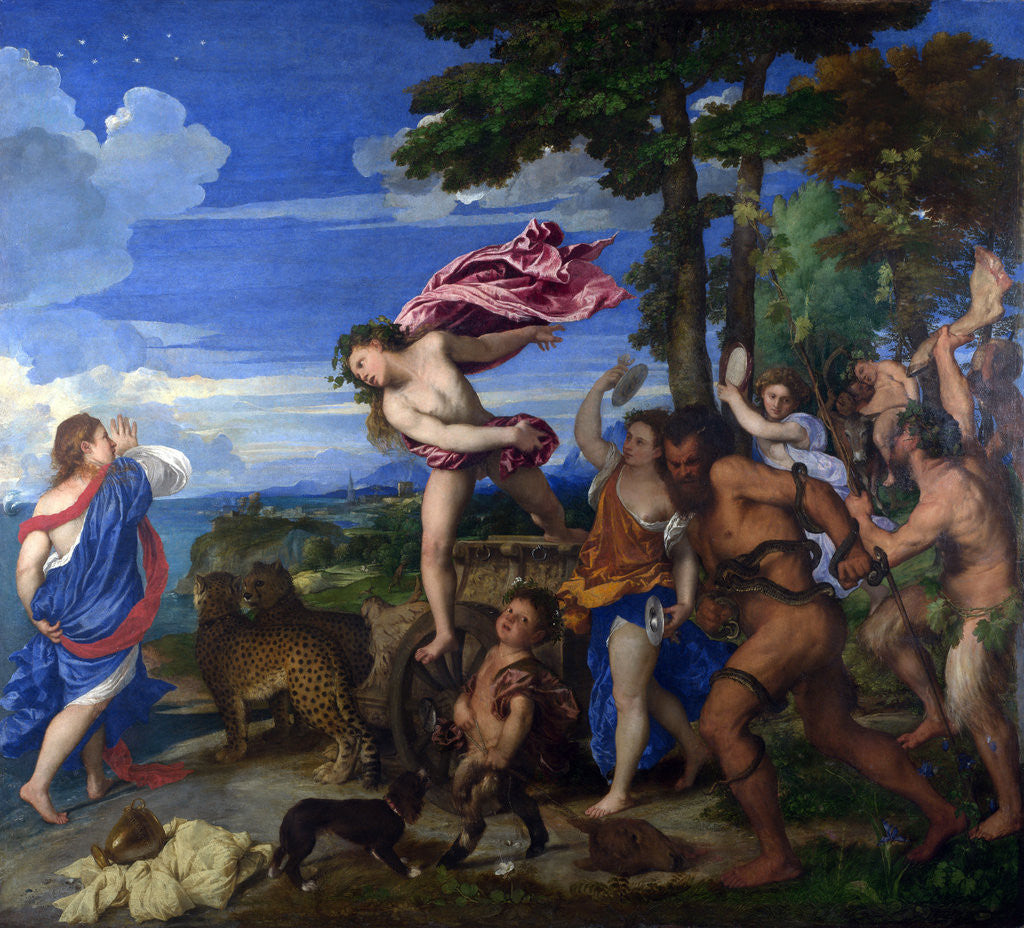 Detail of Bacchus and Ariadne by Titian