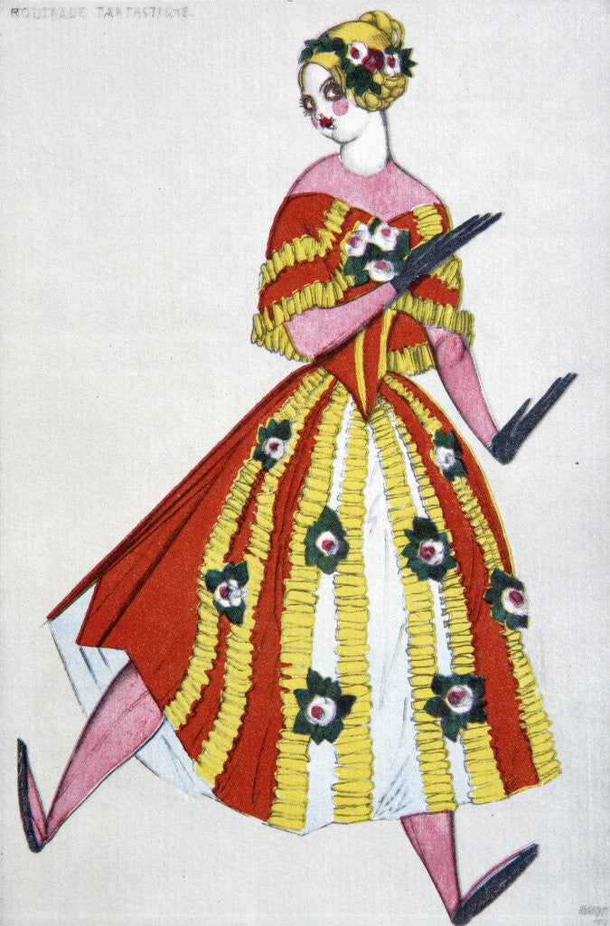 Detail of Costume design for the ballet The Magic Toy Shop by G. Rossini by Leon Bakst