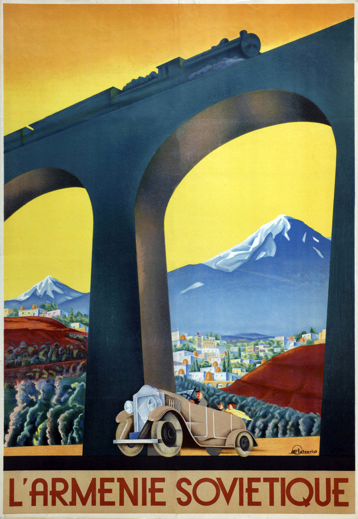 Detail of Soviet Armenia (Poster of the Intourist company) by Sergei Dmitrievich Igumnov
