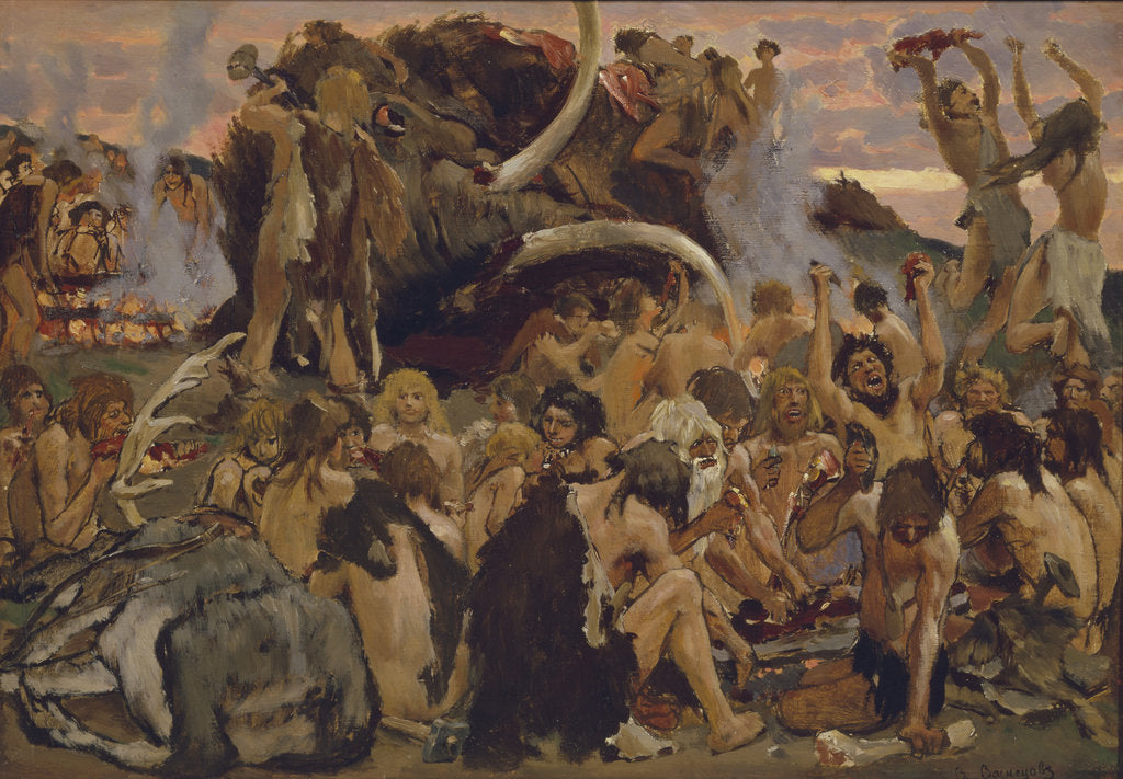 The Stone Age. A Feast, 1883