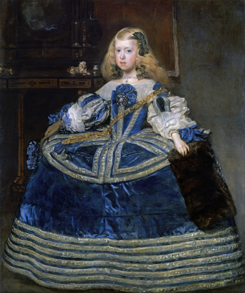 Detail of Infanta Margarita Teresa (1651-1673) in a Blue Dress by Diego Velazquez