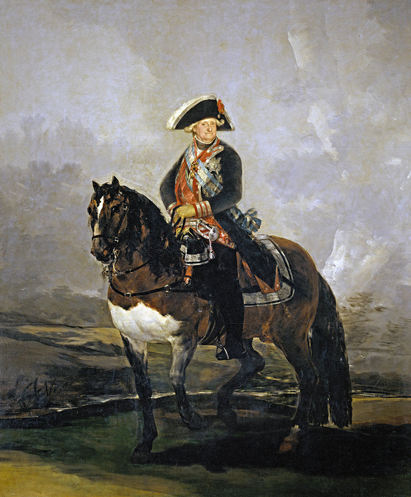 Detail of Equestrian Portrait of Charles IV of Spain by Francisco Goya