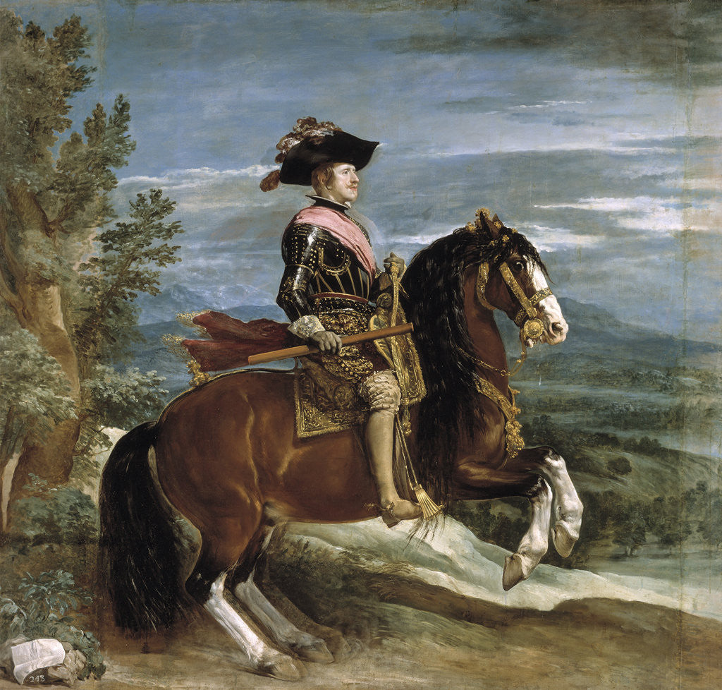Detail of Equestrian Portrait of Philip IV of Spain by Diego Velazquez