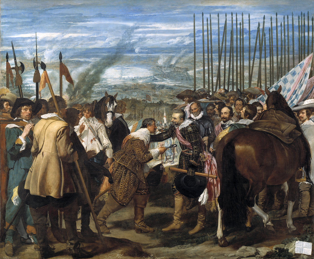 Detail of The Surrender of Breda (Las lanzas) by Diego Velazquez