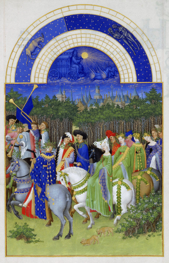 Detail of May (Les Très Riches Heures du duc de Berry) by Limbourg Brothers