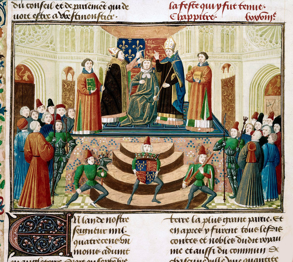 Detail of The Coronation of Henry IV of England (Detail of a miniature from the Grandes Chroniques de France by Jean Froissart) by Anonymous
