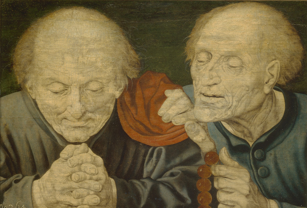 Detail of Two Old Men by Marinus Claesz van Reymerswaele