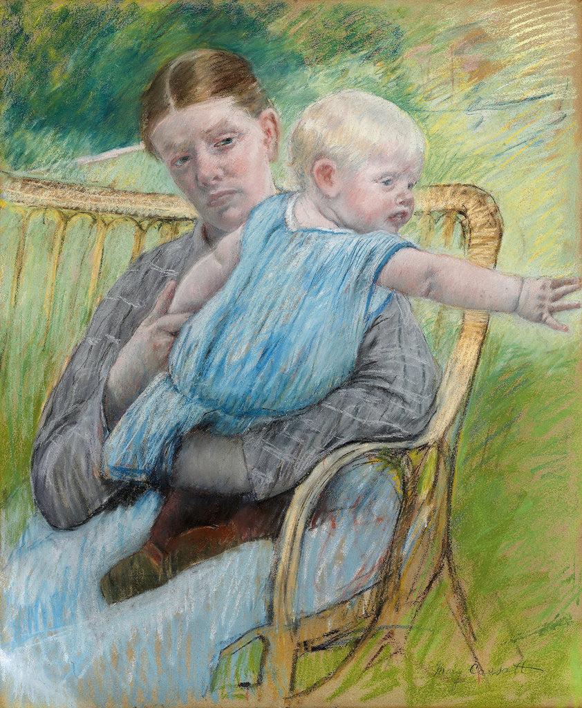 Mathilde Holding Baby by Mary Cassatt