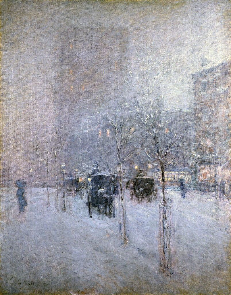 Detail of Late Afternoon, New York, Winter by Childe Hassam