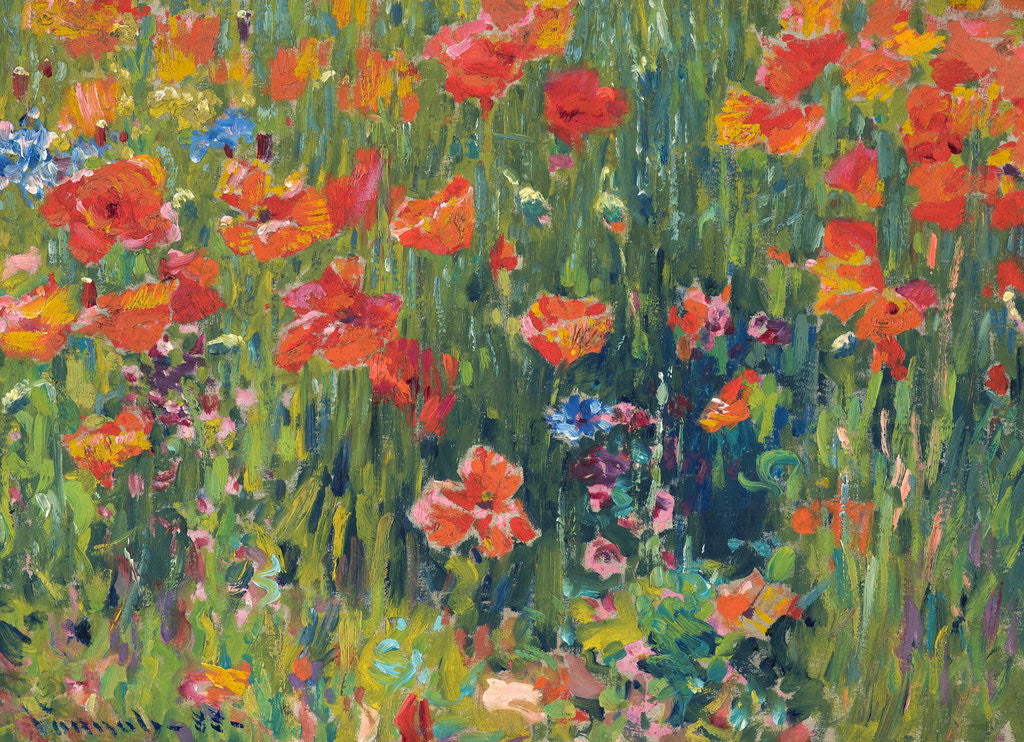 Detail of Poppies by Robert William Vonnoh