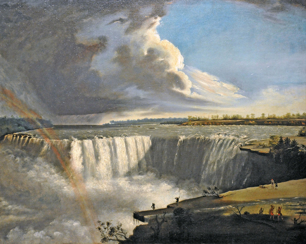 Detail of Niagara Falls from Table Rock by Samuel Finley Breese Morse