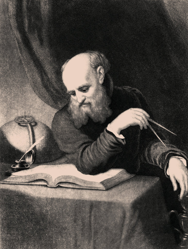 Detail of Galileo Galilei by Samuel Sartain