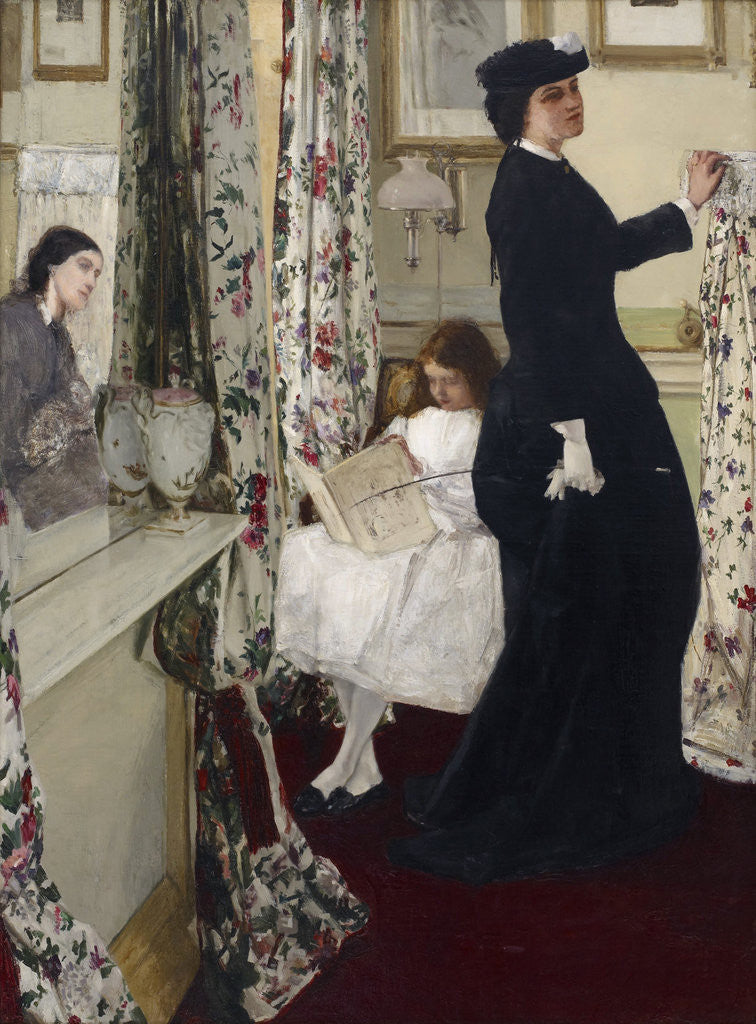 Detail of Harmony in Green and Rose: The Music Room by James Abbott McNeill Whistler