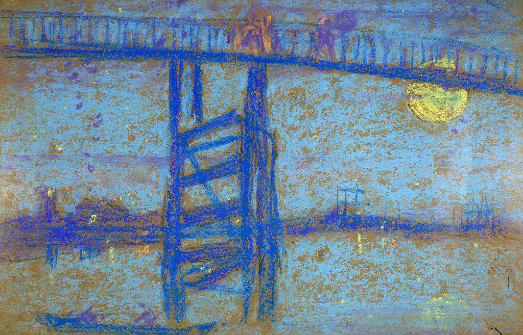 Detail of Nocturne: Battersea Bridge by James Abbott McNeill Whistler