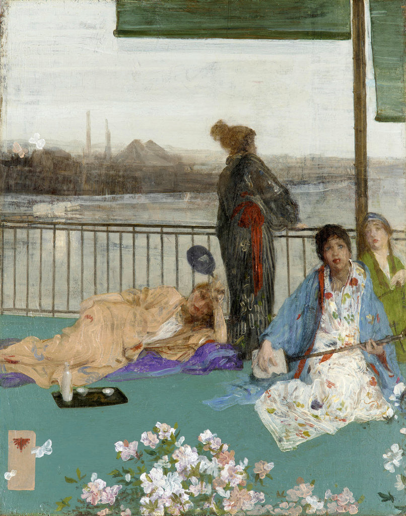 Detail of Variations in Flesh Colour and Green: The Balcony by James Abbott McNeill Whistler