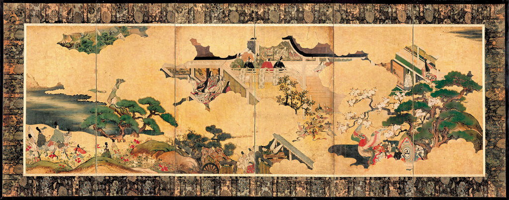 Scenes from The tale of Genji (Genji monogatari), 17th century by Anonymous