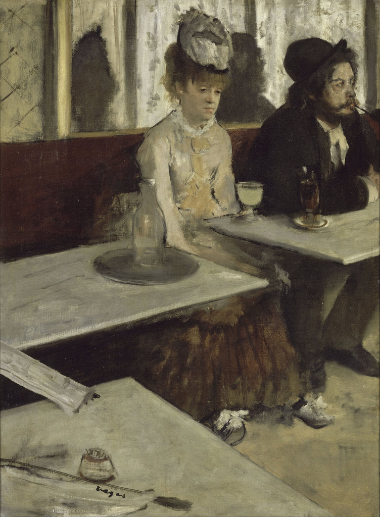 Detail of In a Café (Absinthe), 1873 by Edgar Degas