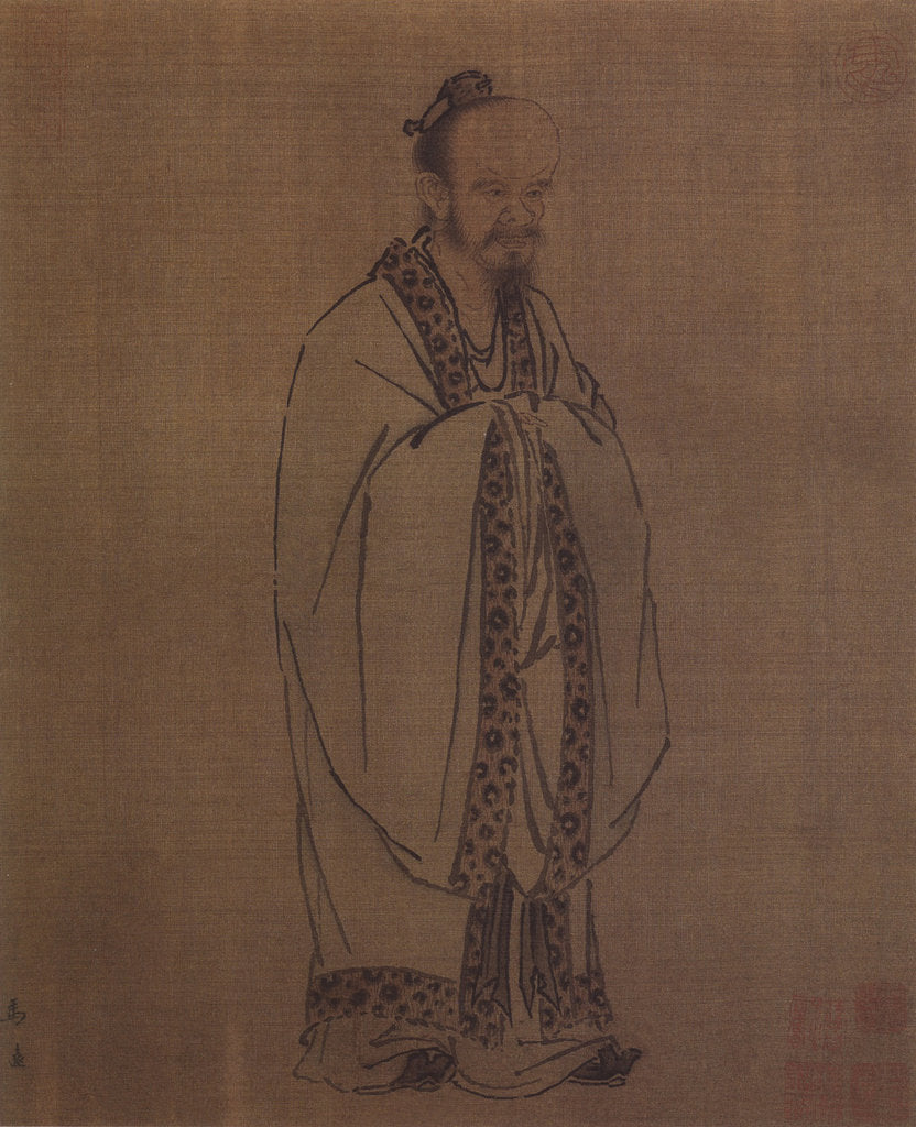 Detail of Confucius, 12th century by Ma Yuan
