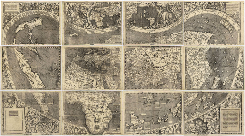 Detail of World map Universalis Cosmographia, 1507 by Martin Waldseemüller