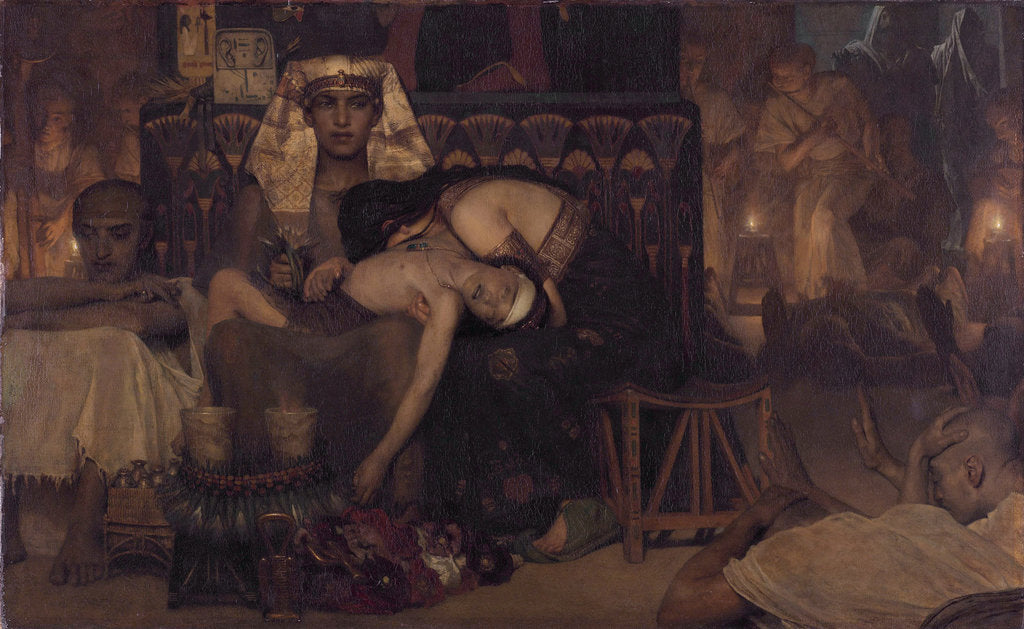 Detail of Death of the Pharaohs Firstborn Son, 1872 by Sir Lawrence Alma-Tadema