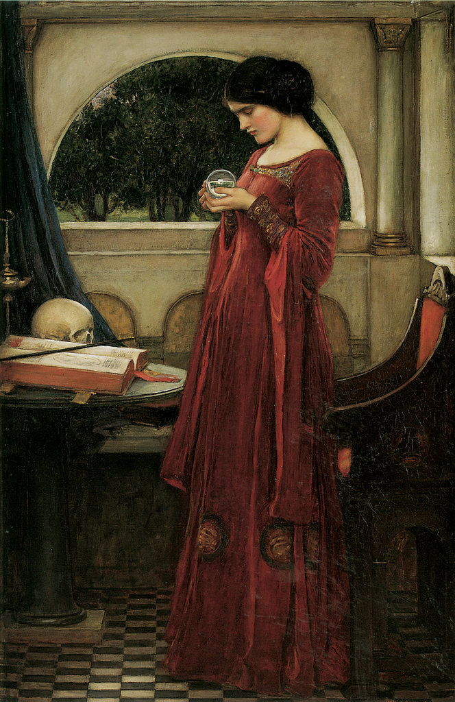 Detail of The Crystal Ball by John William Waterhouse