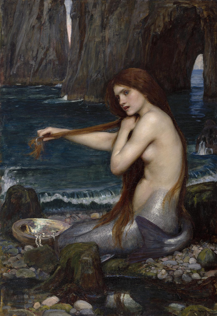 Detail of A Mermaid by John William Waterhouse